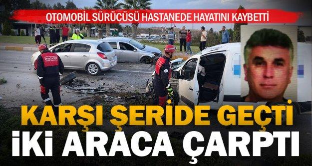 Pamukkale kavşağındaki kazada bir kişi öldü, 2 kişi yaralandı
