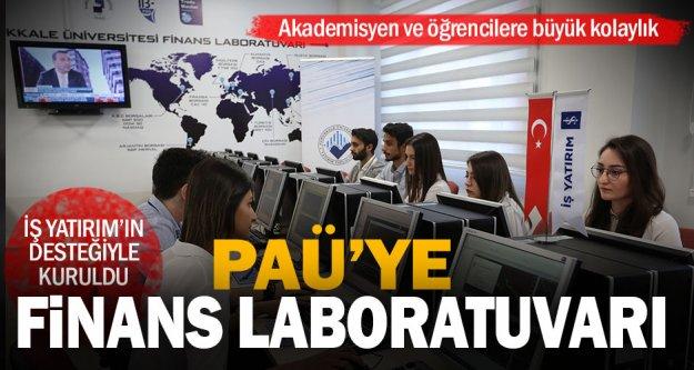 Pamukkale Üniversitesi'nde İş Yatırım tarafından finans laboratuvarı açıldı