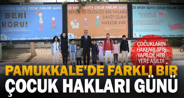 Pamukkale'de Çocuk Hakları Günü farklı kutlandı