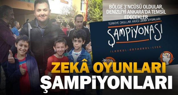 Zeka şampiyonları Denizli'yi temsil edecek