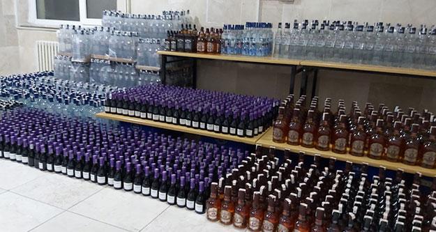2 bin 500 şişe kaçak içki ele geçirildi