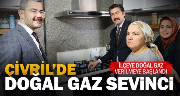 Çivril'e doğal gaz verilmeye başlandı