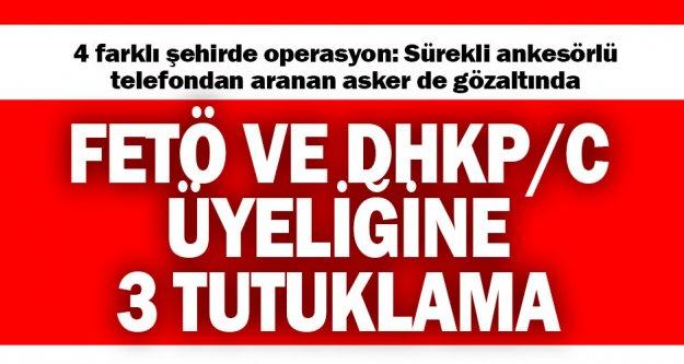 Denizli'de FETÖ ve DHKP/C ile bağlantılı 9 yakalama, 2 tutuklama