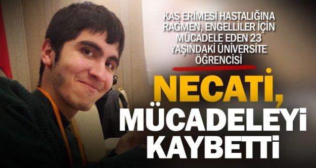 Engelsiz yaşam için mücadele veren Necati'nin üzen ölümü