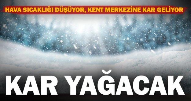 Meteorolojiden kent merkezi için kar yağışı tahmini
