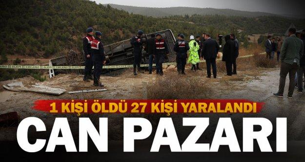 Midibüs şarampole devrildi: 1 ölü, 27 yaralı