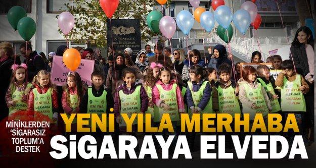 Öğrencilerden 'Yeni yıla merhaba, sigaraya elveda' yürüyüşü