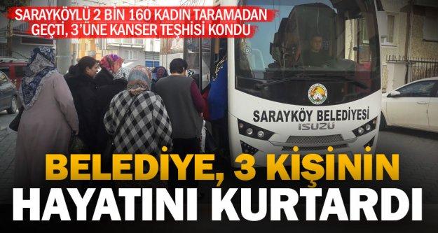 Sarayköy'de 2 bin 160 kişi kanser taramasından geçti, 3 kadına teşhis kondu