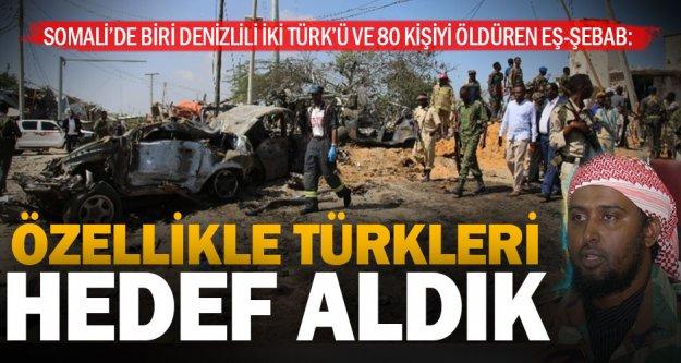 Somali'de biri Denizlili iki Türk ve 81 kişiyi öldüren örgütün sözcüsü konuştu
