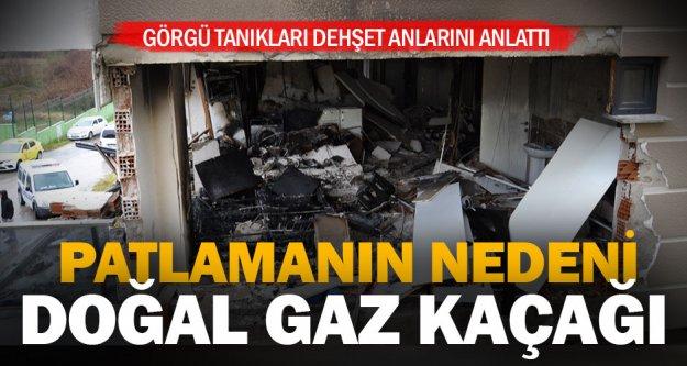 Zeytinköy'de 6 kişinin yaralandığı patlamanın nedeni doğal gazmış