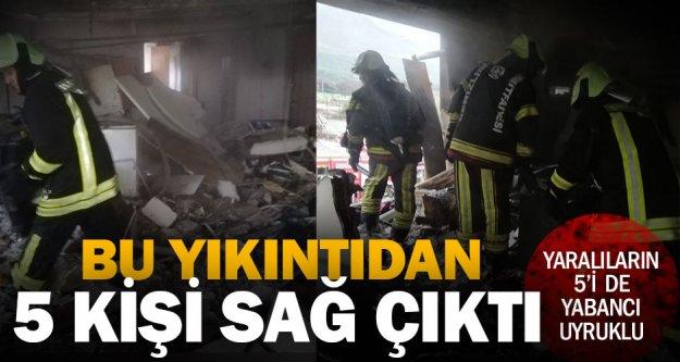Zeytinköy'deki patlamada yaralanan 5 kişi yabancı uyruklu