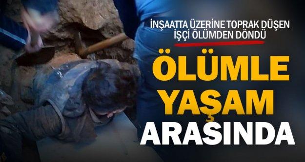 Babadağ'da inşaatta meydana gelen göçükte 1 işçi yaralandı