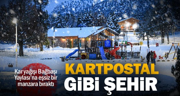 Bağbaşı Yaylası'nda kartpostallık kış manzaraları
