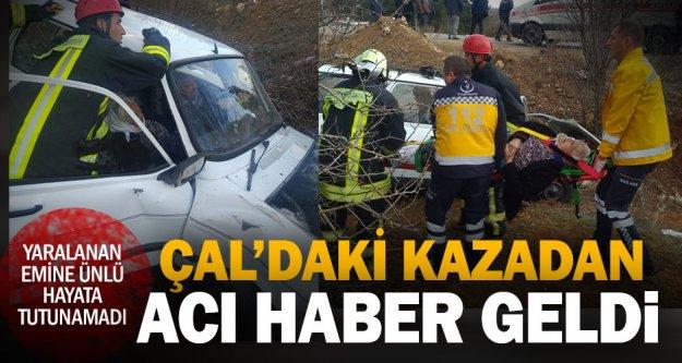 Çal'daki kazada 1 kişi öldü