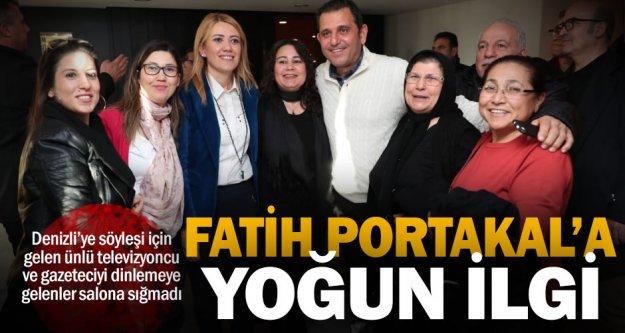 Gazeteci ve televizyoncu Fatih Portakal'ın söyleşine yoğun ilgi