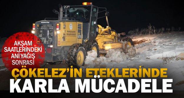 Kar yağışı yüksek bölgelerde etkili oldu