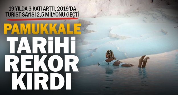Pamukkale 2019'da rekora koştu