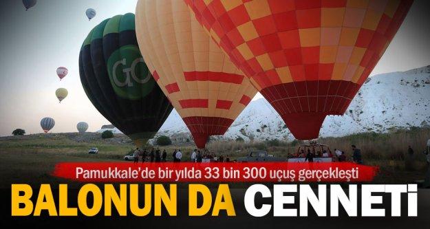 Pamukkale'de bir yılda onbinlerce uçuş gerçekleşti