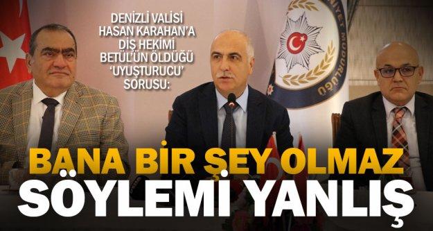 Vali Hasan Karahan'dan uyuşturucu açıklaması: Bilinçlenmeliyiz