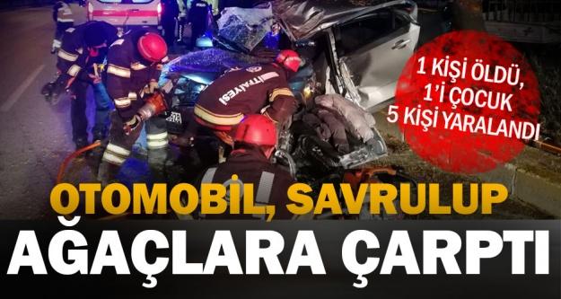 Antalya yolundaki feci kazada 1 kişi öldü, 5 kişi yaralandı