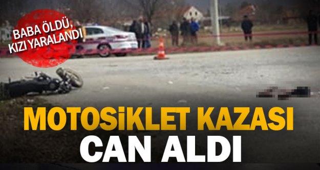 Çivril'de minibüsle çarpışan motosikletin sürücüsü öldü