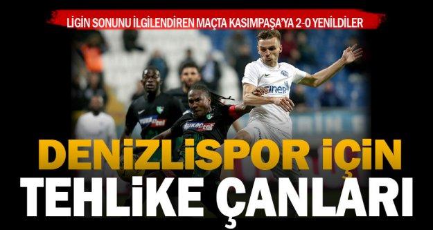 Denizlispor Kasımpaşa'dan puansız dönüyor: 2-0