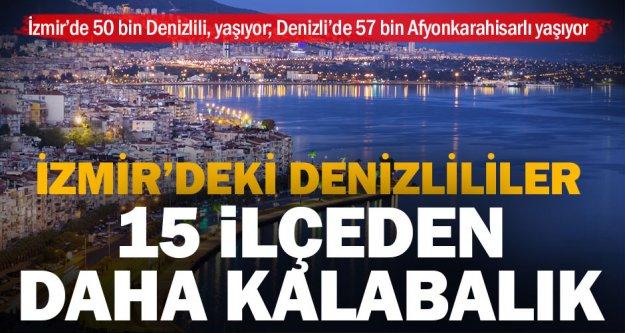 İzmir'deki Denizlililer birçok Denizli ilçesinden daha kalabalık nüfusa sahip