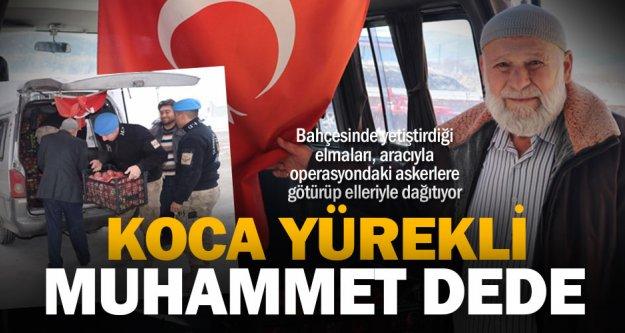 Mehmetçik'e elma götüren kanser hastası Muhammet dede: 'En büyük tedaviyi askerlerle kucaklaşınca aldım'