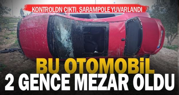 Akköy'de şarampole devrilen otomobildeki 2 genç öldü
