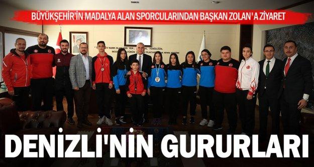 Büyükşehir sporcularından Başkan Zolan'a ziyaret