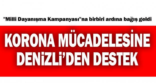 Denizli'den 'Milli Dayanışma Kampanyası'na destek
