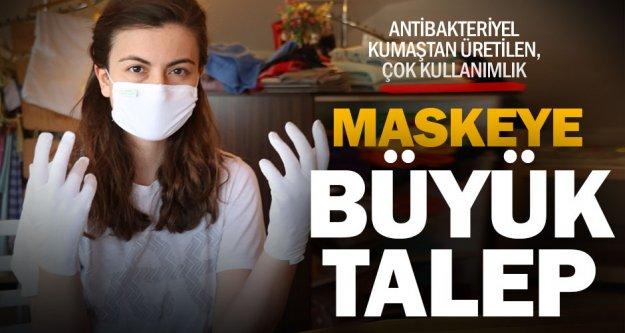 Koronavuirüse karşı, antibakteriyel kumaştan maske
