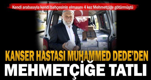 Operasyondaki Mehmetçiğe tatlı dağıtmak için Denizli'den Hatay'a gitti