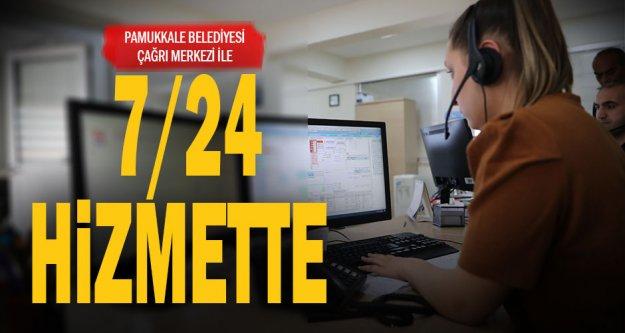 Pamukkale Belediyesi 7/24 hizmette