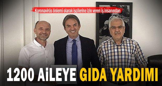 Tekstilci iş insanı Ahmet Gökşin'den PASVAK'a 1200 kişilik gıda yardımı