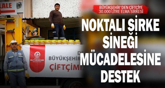 Büyükşehir'den çiftçiye 30.000 litre elma sirkesi