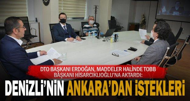 DTO Başkan Erdoğan, Hisarcıklıoğlu'na Denizli'nin isteklerini aktardı