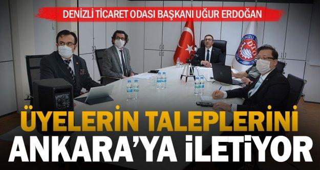 DTO Başkanı Erdoğan, üyelerin taleplerini Ankara'ya iletiyor
