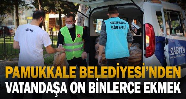 Pamukkale belediyesi on binlerce ekmeği vatandaşa ulaştırdı