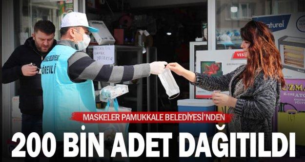 Pamukkale Belediyesi vatandaşlara 200 bin maske dağıttı