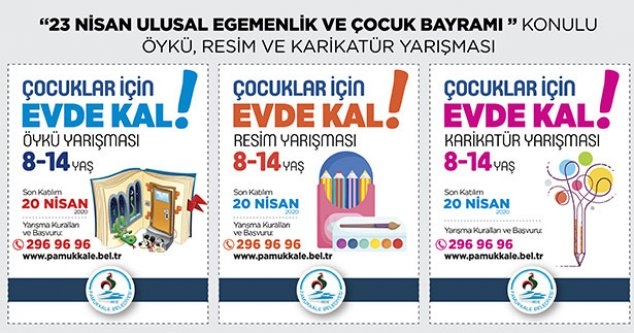 Pamukkale Belediyesi'nden evde kalan çocuklara özel yarışma