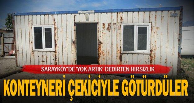Sarayköy'de çekiciyle konteyner çalan 2 kişi yakalandı