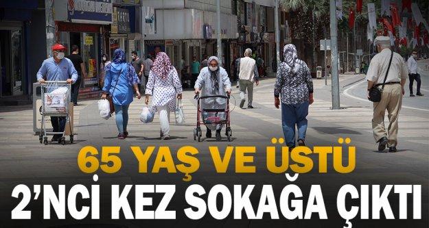 65 Yaş ve üstü vatandaşlar 2'nci kez sokağa çıktı