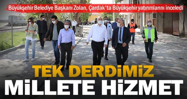 Başkan Osman Zolan, Çardak'ta Büyükşehir yatırımlarını inceledi