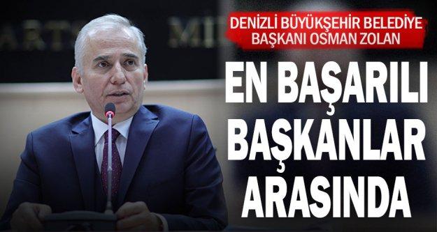 Büyükşehir Belediye Başkanı Osman Zolan en başarılı 10 başkan arasında