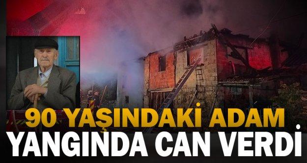 Denizli'de 90 yaşındaki kişi evinde çıkan yangında öldü