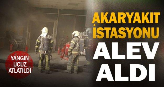 Denizli'de akaryakıt istasyonunda korkutan yangın
