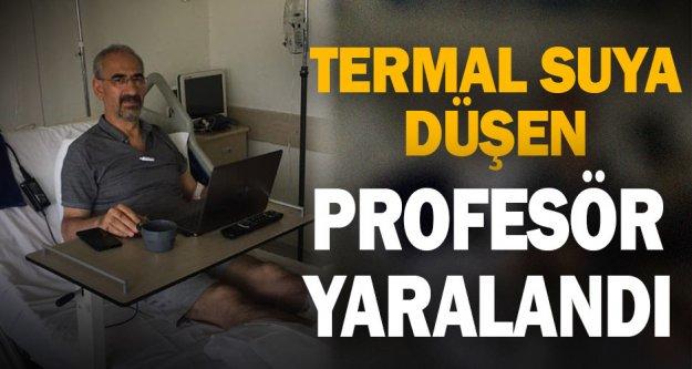 Denizli'de termal suya düşen profesör yaralandı
