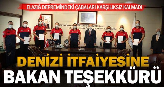İçişleri Bakanlığı'ndan Büyükşehir İtfaiye'ye teşekkür