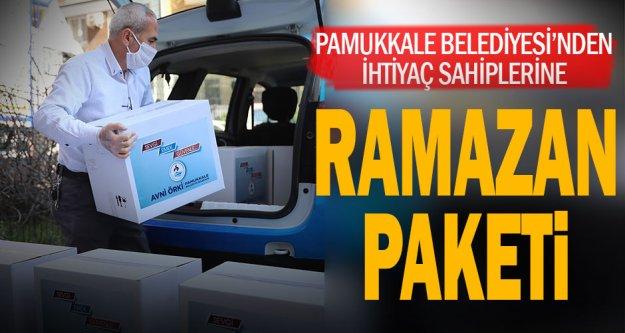 Pamukkale Belediyesi'nden Ramazan paketi